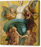 The Assumption Of The Virgin Acrylic Print by Pierre Paul Prudhon