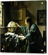 The Astronomer Acrylic Print by Jan Vermeer