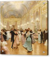 The Ball Acrylic Print by Victor Gabriel Gilbert