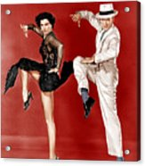 The Band Wagon, From Left Cyd Charisse Acrylic Print by Everett