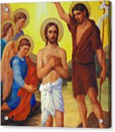 The Baptism Of Jesus Christ Acrylic Print by Svitozar Nenyuk