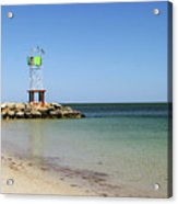 The Bass River Jetty South Yarmouth Cape Cod Massachusetts Acrylic Print by Michelle Wiarda