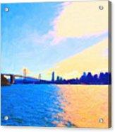 The Bay Bridge And The San Francisco Skyline Acrylic Print by Wingsdomain Art and Photography