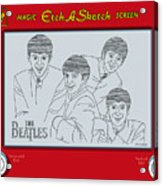 The Beatles Acrylic Print by Ron Magnes
