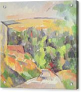 The Bend In The Road Acrylic Print by Paul Cezanne