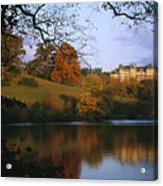 The Biltmore Estate Is Reflected Acrylic Print by Melissa Farlow