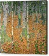 The Birch Wood Acrylic Print by Gustav Klimt