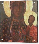 The Black Madonna Of Jasna Gora Acrylic Print by Russian School