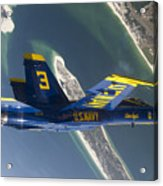 The Blue Angels Perform A Looping Acrylic Print by Stocktrek Images