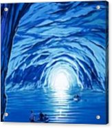 The Blue Grotto In Capri By Mcbride Angus  Acrylic Print by Angus McBride