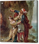 The Bride Of Abydos Acrylic Print by Ferdinand Victor Eugene Delacroix