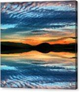 The Brush Strokes Of Evening Acrylic Print by Tara Turner