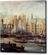 The Burning Of The Houses Of Parliament Acrylic Print by The Burning of the Houses of Parliament