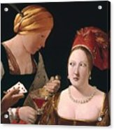 The Cheat With The Ace Of Diamonds Acrylic Print by Georges de la Tour