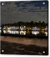The Colorful Lights Of Boathouse Row Acrylic Print by Bill Cannon