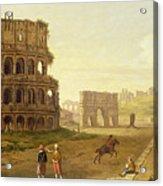 The Colosseum Acrylic Print by John Inigo Richards