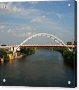 The Cumberland River In Nashville Acrylic Print by Susanne Van Hulst