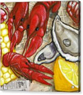 The Daily Seafood Acrylic Print by JoAnn Wheeler