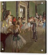 The Dancing Class Acrylic Print by Edgar Degas