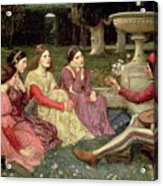 The Decameron Acrylic Print by John William Waterhouse