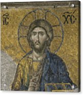 The Dees Mosaic In Hagia Sophia Acrylic Print by Ayhan Altun