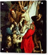 The Descent From The Cross Acrylic Print by Peter Paul Rubens