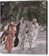 The Disciples On The Road To Emmaus Acrylic Print by Tissot