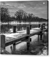 The Dock Acrylic Print by Everet Regal