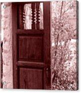 The Door Acrylic Print by Wayne Potrafka