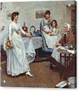 The Dress Rehearsal Acrylic Print by Albert Chevallier Tayler