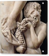 The Drunkenness Of Bacchus Acrylic Print by Michelangelo