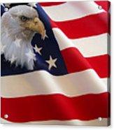 The Eagle Flag Acrylic Print by Evelyn Patrick