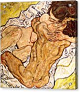 The Embrace Acrylic Print by Egon Schiele