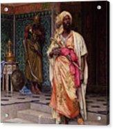 The Emir Acrylic Print by Ludwig Deutsch