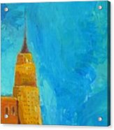 The Empire State Acrylic Print by Habib Ayat