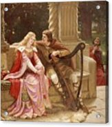 The End Of The Song Acrylic Print by Edmund Blair Leighton