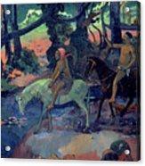The Escape Acrylic Print by Paul Gauguin
