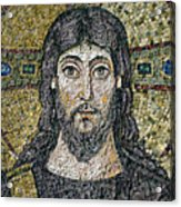 The Face Of Christ Acrylic Print by Byzantine School