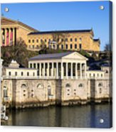 The Fairmount Water Works And Art Museum Acrylic Print by John Greim