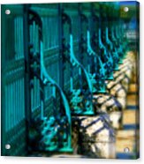 The Fence Acrylic Print by Perry Webster