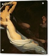 The Figures Of Francesca Da Rimini And Paolo Da Verrucchio Appear To Dante And Virgil Acrylic Print by Ary Scheffer