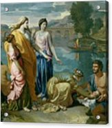 The Finding Of Moses Acrylic Print by Nicolas Poussin