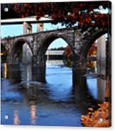 The Five Bridges - East Falls - Philadelphia Acrylic Print by Bill Cannon