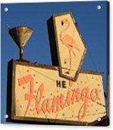 The Flamingo Acrylic Print by Troy Montemayor