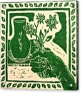 The Florist Acrylic Print by Caroline Street