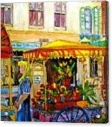 The Flowercart Acrylic Print by Carole Spandau