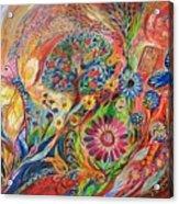 The Flowers And Trees Acrylic Print by Elena Kotliarker
