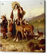 The Forester's Family Acrylic Print by Sir Edwin Landseer