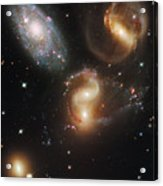 The Galaxies Of Stephans Quintet Acrylic Print by Nasa/Esa