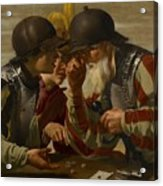 The Gamblers Acrylic Print by Hendrick Ter Brugghen